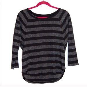 American Eagle Shiny shimmer stripe shirt